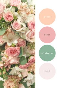 Color palette tool, love the soft blush and peach pastel shades with the hint of sage green -Dahlia Floral Design Calgary Peach Color Palettes, Color Schemes Colour Palettes, Green Colour Palette, Wedding Color Schemes, Color Combos, Wedding Colors, Peach Color Schemes, Pastel Palette, Peach And Green