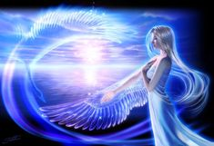 Fantasy - Angel Wallpapers and Backgrounds Fantasy Girl, Fantasy Angel, Chica Fantasy, Fantasy Women, Aura Reading, Angel Spirit, Les Fables, Doreen Virtue, Blue Fairy
