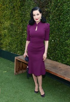 Dita von Teese wearing @cherrerany – LoveGold Luncheon Honouring Michelle Dockery