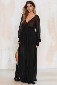 Go Your Own Way Chiffon Dress - Black - Dark Romance | Dark Romance | Going Out | Dresses