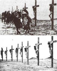 "threatre–bizarre: "" 1915 - Armenian women being crucified during the Armenian genocide """