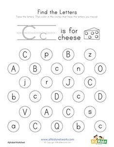 Practice Letter Recognition By Finding And Coloring The Correct Letters This Collection Of Free Alphabet Worksheets Has One Worksheet For Each