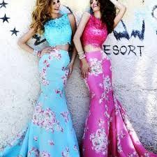 Resultado de imagen para two pieces prom dress