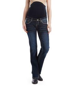 Bella Vida Dark Blue Maternity Bootcut Jeans - Plus Too