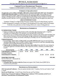 Financial Trader Resume Example Good Resume Template Home Design Decor Home  Interior And Exterior Energy Trader