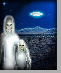 Les Tall Whites Des extraterrestres luminescents, de grande taille, à la peau blanche et aux yeux bleus, courrant à plus de 60 km/h et vivant 800 ans auraient investi depuis très longtemps la base de Nellis (Area 51) dans le Nevada.
