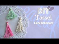 Diy Tassel Embellishments - Build Your Stash #3 - YouTube