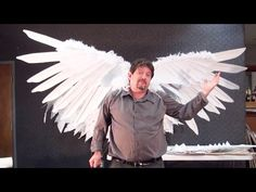 How To Make Real Life Epic Angel Wings - YouTube