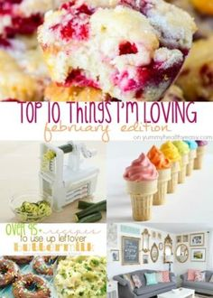 The Top 10 Things I'm Loving - a {new} little monthly recap highlighting my favorite things during the month! (Talking about my new spiralizer, The Bachelor, books, DIY and food of course! Pastry Recipes, Cooking Recipes, Game Recipes, Mexican Food Recipes, Dessert Recipes, Desserts, Cream Cheese Breakfast, Wassail Recipe, Date Cookies
