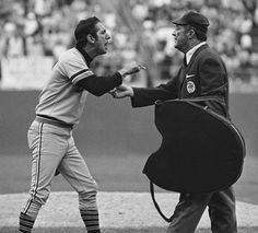 """He wasn't the best manager the Tigers ever had, but he was probably the most volatile. Billy Martin has a """"friendly conversation"""" with umpire Nestor Chylak in Baseball Manager, Baseball Playoffs, Sports Baseball, Baseball Field, Baseball Cards, Detroit Sports, Detroit Tigers Baseball, Best Sports Quotes, Detroit Vs Everybody"""