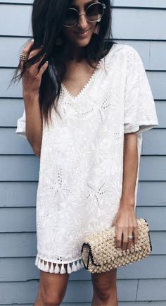 #summer #outfits This Dress!! ❤️❤️. It's Coming With Me On The Next Vacay. Tassels, Embroidery...this One Is All About The Details. (runs True To Size).