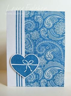 Impression Obsession Rubber Stamps Cover-a-Card Lg. Paisley