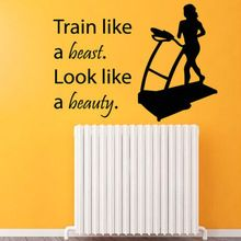 HWHD Fitness Wall Decals Sport Woman Wall Gym Decor Vinyl Sticker free shipping(China (Mainland))