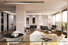 3D Visualisierung eines Penthouse in Düsseldorf // #Architekturvisualisierung //  #Rendering