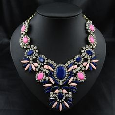 Fashion #Statement #Necklace, Faceted & with #Rhinestone, More Colors.