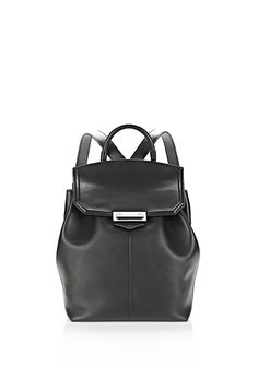ALEXANDER WANG PRISMA BACKPACK IN BLACK WITH RHODIUM