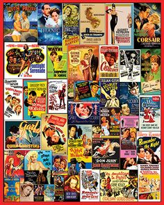 Movie Posters Jigsaw Puzzle from White Mountain Puzzles.   Visit www.whitemountainpuzzles.com