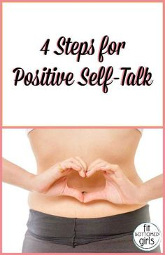 Steps to improve your self-talk, along with a few positive words to help set the stage! We're lovin' #3. | Fit Bottomed Girls
