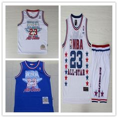 a7abbe5f8 NBA HARDWOOD CLASSICS MICHAEL JORDAN 23 BASKETBALL ALL STAR SERIES JERSEY    60 Jordan 23