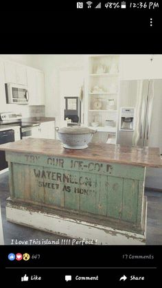Vintage Farmhouse Kitchen Islands Antique Bakery Counter For Sale - Farmhouse kitchen island for sale