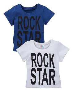 KD BABY Boys Pack of Two T-Shirts KD BABY Boys Pack of Two T-Shirts. A great essential for your childs wardrobe these pack of two white/navy T-shirts are great for the warmer weather or layering, and feature a Rock Star slogan to the  http://www.MightGet.com/january-2017-13/kd-baby-boys-pack-of-two-t-shirts.asp