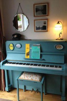 Piano in de verf, misschien wat voor ons? | Painting a piano | Painted piano | #piano