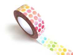 Rainbow Polka Dots Washi Tape 10M Paper Sticker by PeakBloom, $2.45