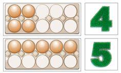 Rekenen met eieren. Download de eierdozen met cijferkaarten en laat de kinderen de eieren tellen of de kaarten namaken in een 'echte' eierdoos. Voor kleuters en kinderen in groep 3. Eierdozen 1 t/m 9Inhoud1 Eierdozen 1 t/m 92 Eierdozen 10 t/m 20 Met deze eierdozen kunnen de kinderen de cijfersymbolen leren en oefenen met tellen. …