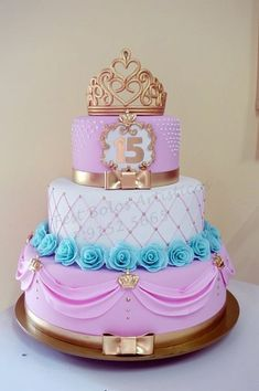 89-8 Golden Birthday Parties, Sweet 16 Birthday Cake, Happy Birthday Cakes, Birthday Cake Girls, Cake Decorating Amazing, Cake Decorating With Fondant, Beautiful Cake Designs, Beautiful Cakes, Bolo Tumblr