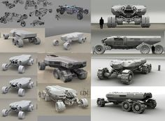 """I join some steps, wasn't supposed to be presented, hence the very """"rough"""" look of them. The Martian, Army Vehicles, Armored Vehicles, Space Engineers, Spaceship Design, Futuristic Art, Lego Projects, Transportation Design, Concept Art"""