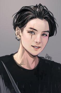 Fanart Bts, Yoonmin Fanart, Foto Bts, Bts Anime, K Wallpaper, Kpop Drawings, Min Yoongi Bts, Agust D, Bts Chibi