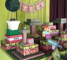 festas infantil personalizada minecrafts - Pesquisa Google