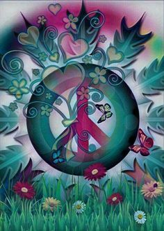 Hippie Peace, Happy Hippie, Hippie Love, Hippie Chick, Hippie Style, Hello Kitty Wallpaper, Love Wallpaper, Wallpaper Backgrounds, Hippie Wallpaper