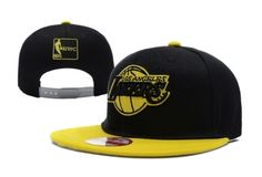 new styles fbb97 4f6b9 Casquette NBA Los Angeles Lakers Snapback Noir Jaune New Era 3 Casquette New  Era Pas Cher
