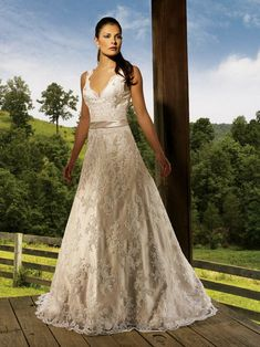 I think the cut of this dress is divine. The champagne color is beautiful.