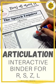 This articulation binder provides an organized and comprehensive way to treat articulation disorders targeting /r, s, z, l/ plus generic worksheets. Many pages of the binder are worksheet like or cut/paste activities.