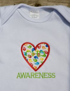 CHD Congenital Heart Defect Awareness Onesie by ThrivingHearts, $18.00