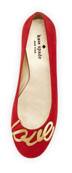 "casual Kate Spade julip suede ""love"" ballerina flat http://rstyle.me/n/tmgg2bh9c7"