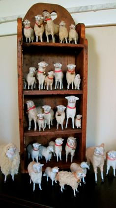 wonderful putz sheep collection...