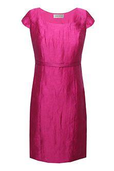 hot pink 60's style shift dress