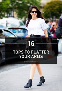 16 Tops to Flatter Your Arms // #OutfitIdeas