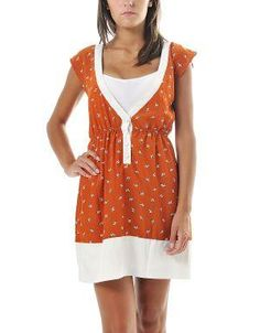(CLICK IMAGE TWICE FOR DETAILS AND PRICING) Zebra Print V-Neck Dress Orange. Deep V-Neck dress with tiny zebras pattern. Wear it with a long cardigan and lace up boots for a modern and playful look or pair it with thong sandals for a casual look.. See More Casual Dress at http://www.ourgreatshop.com/Casual-Dress-C81.aspx