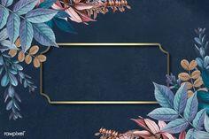 Leafy golden rectangular frame vector | free image by rawpixel.com / Adj Framed Wallpaper, Flower Background Wallpaper, Flower Phone Wallpaper, Wallpaper Iphone Cute, Flower Backgrounds, Poster Background Design, Powerpoint Background Design, Background Patterns, Logo Online Shop
