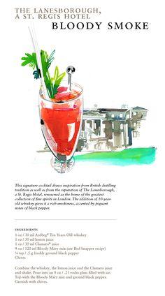 "The ""Bloody Smoke"" at The Lanesborough, a St. Regis Hotel. #Lanesborough #London #Cocktails #Travel"