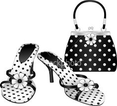Google Image Result for http://i.istockimg.com/file_thumbview_approve/6027018/2/stock-illustration-6027018-black-white-polka-dot-shoes-purse.jpg