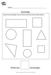 best free prek math worksheets and activities images  pre k  free rectangle shape worksheet for prek you will find the download link at