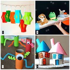 Algunas ideas craft para hacer con niños durante las vacaciones.