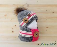 Hat crochet pattern  tuque bonnet patron au crochet