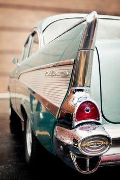 """4redbelts: """" theoldiebutgoodie: """" 1957 Chevy Bel Air by ~ cynthiak ~ on Flickr. """" 4rb """""""