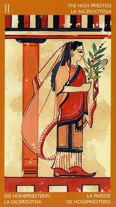 The High Priestess - Etruscan Tarot